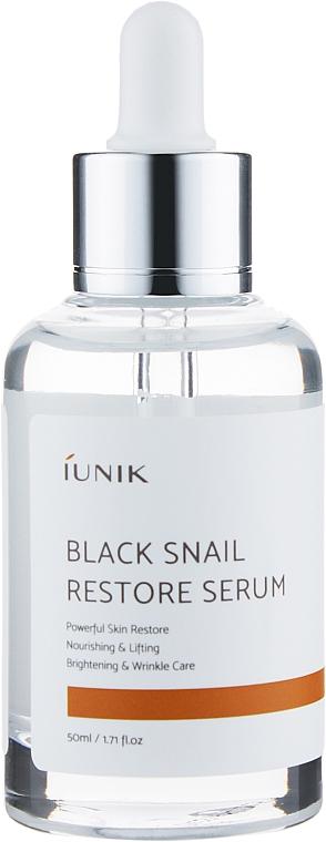 Восстанавливающая сыворотка с муцином черной улитки - IUNIK Black Snail Restore Serum