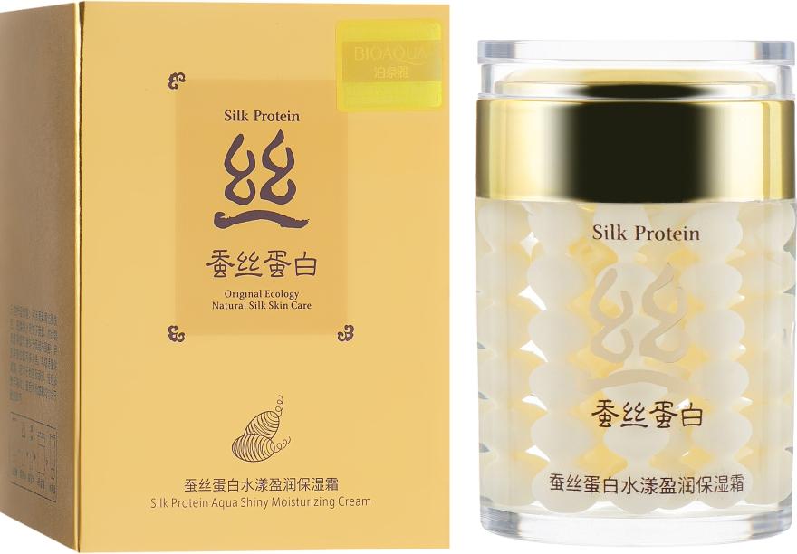 Крем для лица с протеином шелка - Bioaqua Silk Protein