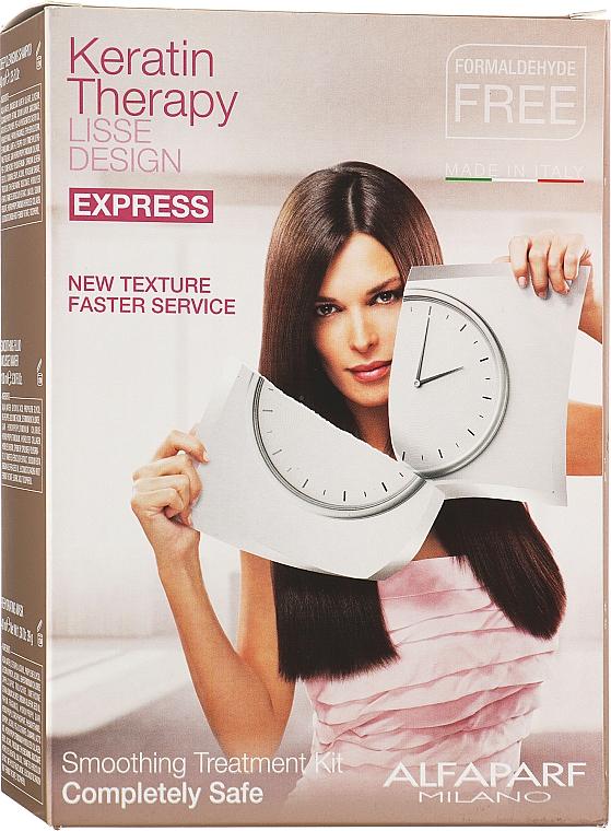 Набор для процедуры кератинового восстановления - Alfaparf Milano Lisse Design Keratin Therapy (shm/40ml + mousse/100ml + h/mask/40ml)