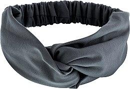 "Духи, Парфюмерия, косметика Повязка на голову, трикотаж переплет, серая ""Knit Twist"" - MakeUp Hair Accessories"