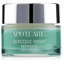 Духи, Парфюмерия, косметика Восстанавливающий ночной крем для век - APOT.CARE Glycolic Night Eye Cream