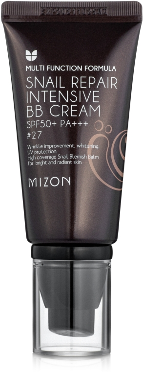BB-крем с муцином улитки - Mizon Snail Repair Intensive BB Cream SPF50+ РА+++ — фото N2