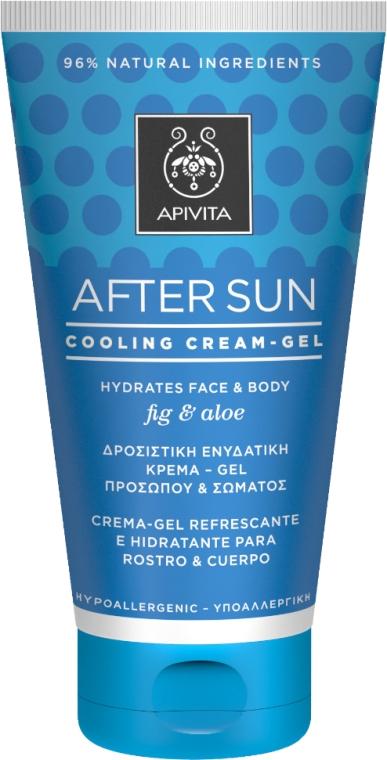 Охлаждающий и увлажняющий крем-гель для лица и тела с инжиром и алоэ - Apivita Sunbody After Sun Cooling Cream-Gel