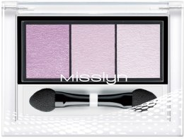 "Тени для век ""Трио"" - Misslyn High Shine Trio Eyeshadow (тестер) — фото N1"