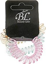 Духи, Парфюмерия, косметика Набор резинок для волос, 405004, прозрачно-оранжевая+прозрачно-розовая+прозрачно-фиолетовая - Beauty Line