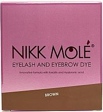 Духи, Парфюмерия, косметика Краска для бровей и ресниц с кератином и гиалуроновой кислотой, саше, 25 шт - Nikk Mole