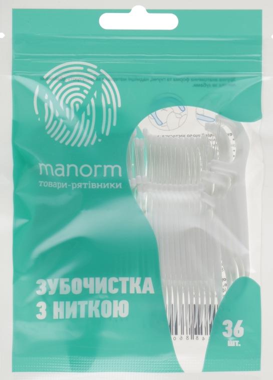 Зубочистка с освежающей ниткой, 36шт - Manorm