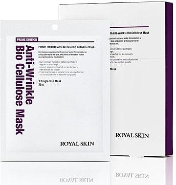 Био-целлюлозная омолаживающая маска для лица - Royal Skin Prime Edition Anti-Wrinkle Bio Cellulose Mask