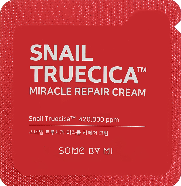 Восстанавливающий крем с муцином улитки и керамидами - Some By Mi Snail Truecica Miracle Repair Cream (пробник)