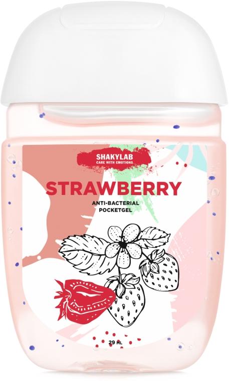 "Антибактериальный гель для рук ""Strawberry"" - SHAKYLAB Anti-Bacterial Pocket Gel"
