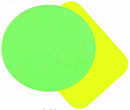 Духи, Парфюмерия, косметика Набор разноцветных прорезиненных спонжей для макияжа, 2шт, SP-143 - Silver Style
