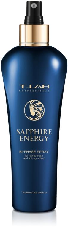 Двухфазный спрей для силы волос и эффекта анти-эйдж - T-LAB Professional Sapphire Energy Bi-Phase Spray