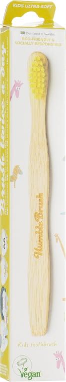 Детская бамбуковая зубная щетка, ультрамягкая, желтая - The Humble Co.