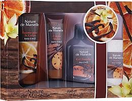 Духи, Парфюмерия, косметика Набор - Nature de Marseille Orange And Vanilla Cosmetics Set (sh/gel/150ml + h/cr/60ml + b/balm/100ml + soap/95g)