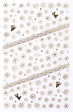 Парфумерія, косметика Наклейки для ногтей, золотые, 80х130 мм - Vizavi Professional