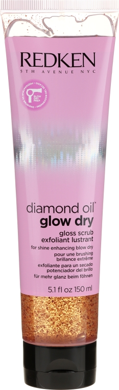 Скраб для очищения и полировки волос - Redken Diamond Oil Glow Dry Gloss Scrub