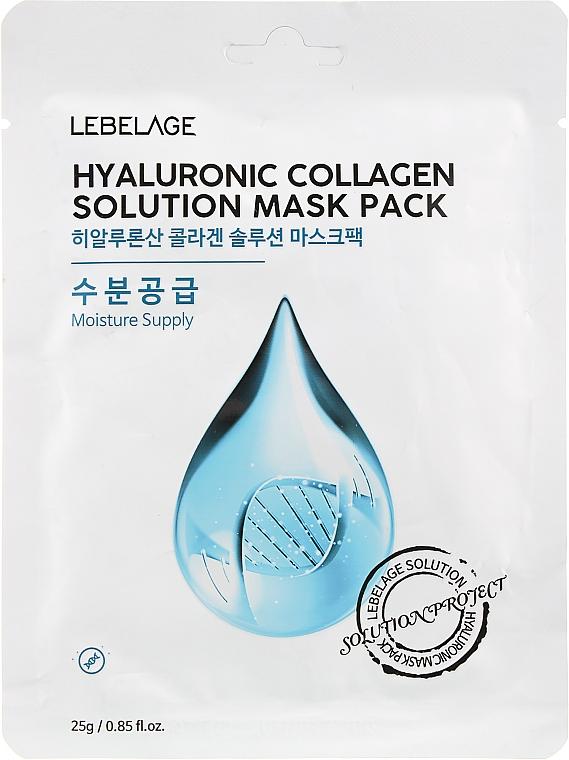 Маска для лица тканевая - Lebelage Hyaluronic Collagen Solution Mask