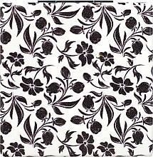 Духи, Парфюмерия, косметика Зеркало косметическое, белое c черными цветами - Lily Cosmetics
