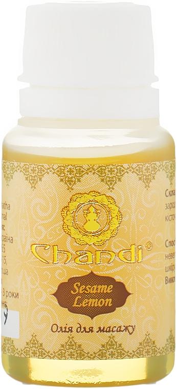"Массажное масло ""Кунжут и Лимон"" - Chandi Body Massage Oil"