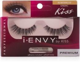 Парфумерія, косметика Накладні вії - Kiss IEnvy Eyelashes Au Naturale 02