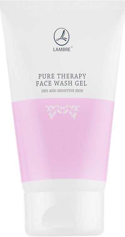Гель очищающий для лица для сухой и чувствительной кожи - Lambre Pure Therapy Face Wash Gel Dry And Sensitive Skin