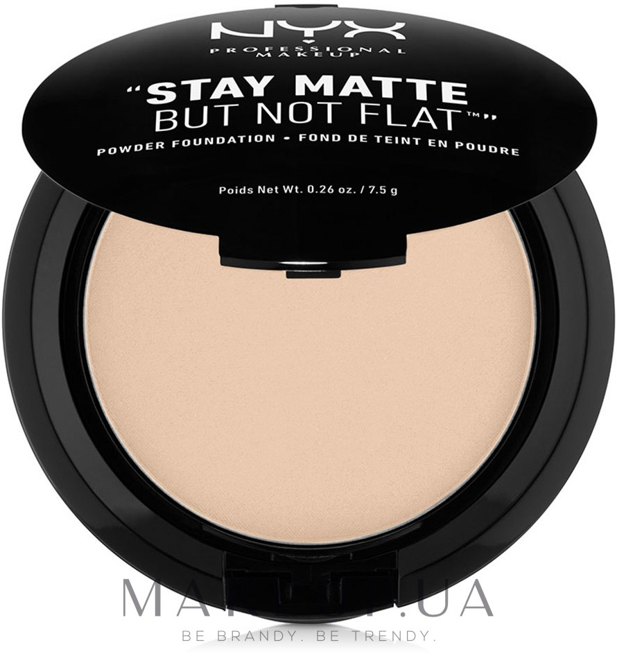 Пудра для лица - NYX Professional Makeup Stay Matte But Not Flat Powder Foundation — фото 02 - Nude