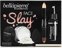 Духи, Парфюмерия, косметика Набор - Bellapierre Face Slay Kit Fair/Medium (stick/8.6g+powder/6.5g+spray/70ml+sponge/1pcs)