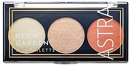 Духи, Парфюмерия, косметика Палетка для макияжа - Astra Make-Up Glow Garden Face Palette