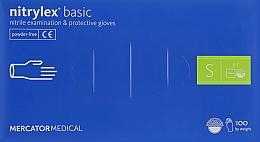 Духи, Парфюмерия, косметика Перчатки нитриловые, нестерильные, неприпудренные, синие, размер S - Mercator Medical Nitrylex Basic