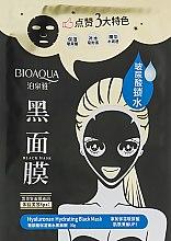 Духи, Парфюмерия, косметика Тканевая маска - Bioaqua Hyaluronan Hydrating Black Mask