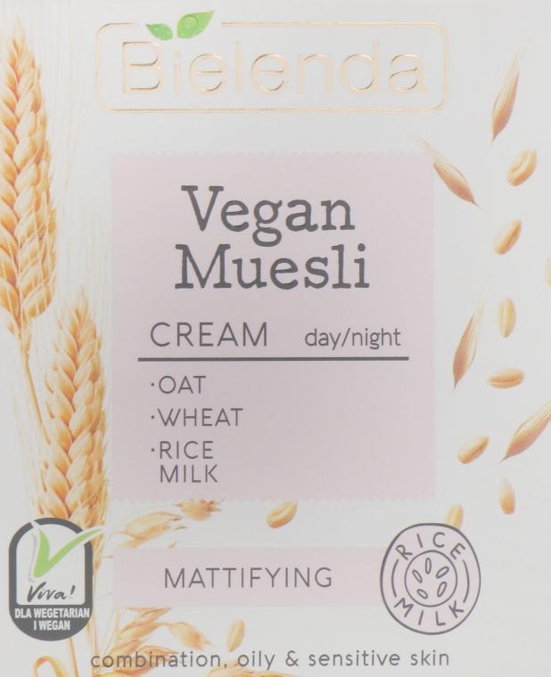 Крем матирующий для лица - Bielenda Vegan Muesli Mattifying Day Night Cream