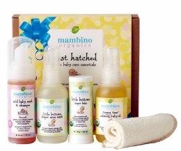 Духи, Парфюмерия, косметика Набор для новорожденных - Mambino Organics Just Hatched Baby Arrival Kit (balm/18g + wash/60ml + shm/50ml + oil/60ml + wipe/1)