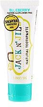 Парфумерія, косметика Натуральна зубна паста зі смаком чорниці - Jack N' Jill Natural Toothpaste Blueberry