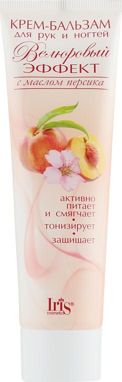 """Крем-бальзам для рук и ногтей """"Велюровый эффект"""" с маслом персика - Iris Cosmetic"""