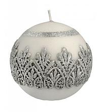 Духи, Парфюмерия, косметика Декоративная свеча, шар, серая, 10 см - Artman Koronka Lace Christmas