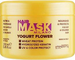 Духи, Парфюмерия, косметика Маска для сухих и окрашенных волос - Imperity Milano Yogurt Flower Hair Mask