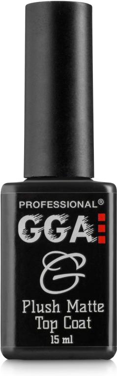 Матовый топ для гель-лака - GGA Professional Plush Matte Top Coat