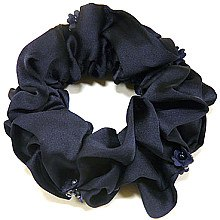 Духи, Парфюмерия, косметика Резинка для волос P6040-2, d-11 см, синяя - Akcent