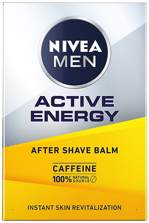 Бальзам для кожи лица после бритья - Nivea Men Active Energy After Caffeine Shave Balm