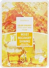 Духи, Парфюмерия, косметика Тканевая маска на основе фильтрата улитки и меда - Deoproce Color Synergy Effect Sheet Mask Yellow