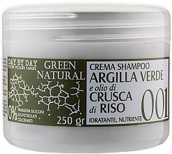 Духи, Парфюмерия, косметика Крем-шампунь с зеленой глиной и маслом рисовых отрубей - Alan Jey Green Natural Cream-Shampoo