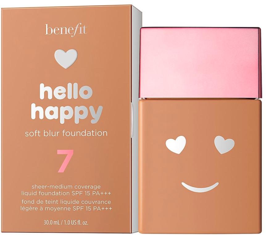 Тональная основа с эффектом мягкого свечения - Benefit Hello Happy Soft Blur Foundation