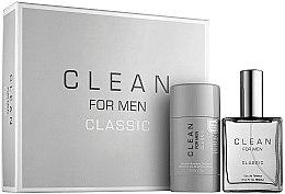 Духи, Парфюмерия, косметика Clean Clean For Men Classic - Набор (edt/60ml + deo/75g)