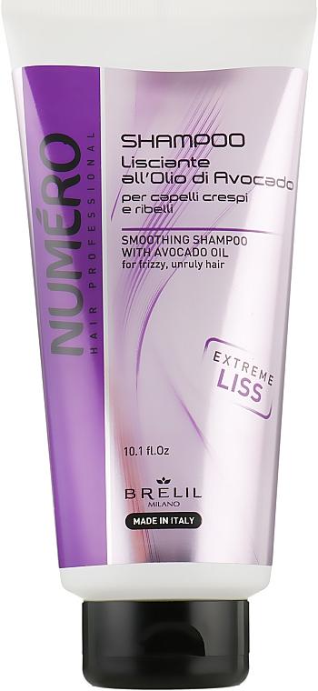 Разглаживающий шампунь для волос с маслом авокадо - Brelil Numero Smoothing Shampoo