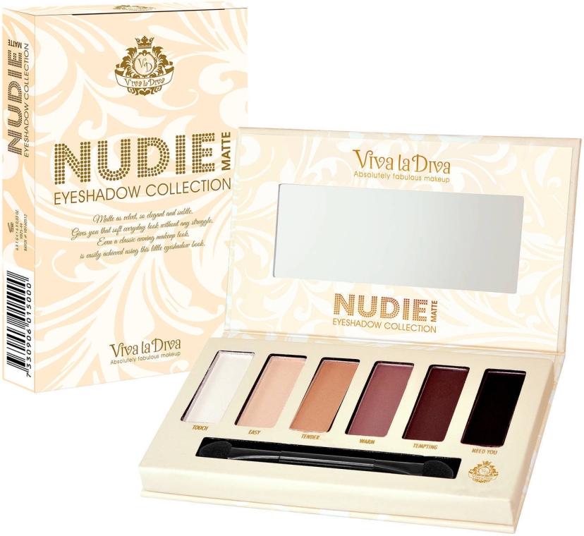 Палетка теней для век - Viva la Diva Nudie Matte Eyeshadow Palette