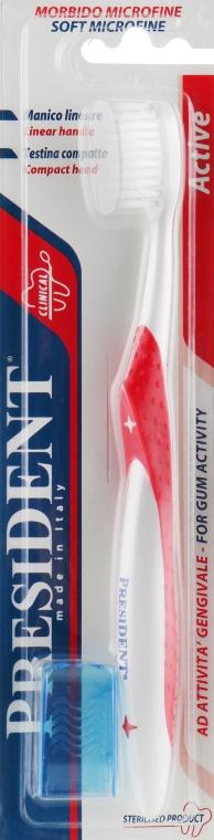 """Зубная щетка """"Active"""" ультра-мягкая, красная - PresiDENT"""
