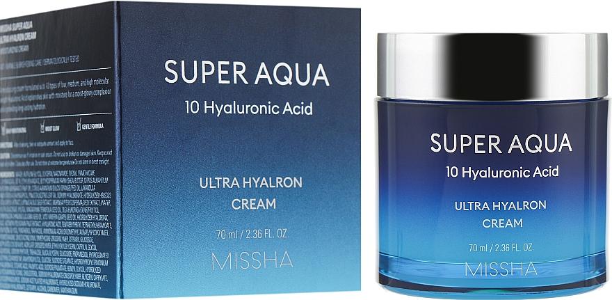 Увлажняющий крем для лица - Missha Super Aqua Ultra Hyalron Cream