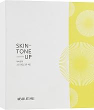 Духи, Парфюмерия, косметика Набор - About Me Skin Tone Up (toner/130ml + lot/130ml + 2xcr/10ml)