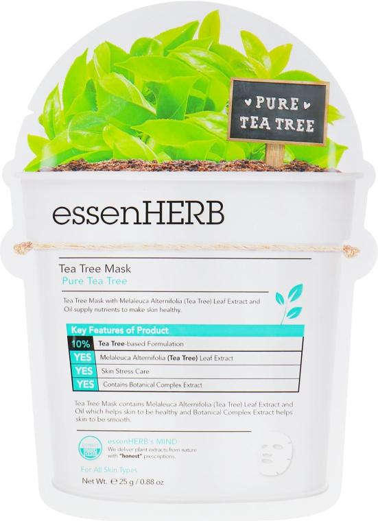 Успокаивающая тканевая маска с экстрактом чайного дерева для проблемной кожи - EssenHerb Tea Tree Mask