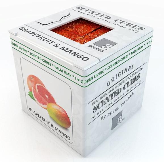 """Аромакубики """"Грейпфрут+манго"""" - Scented Cubes Grapefruit & Mango Candle"""